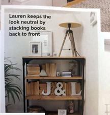 Neutral bookshelf
