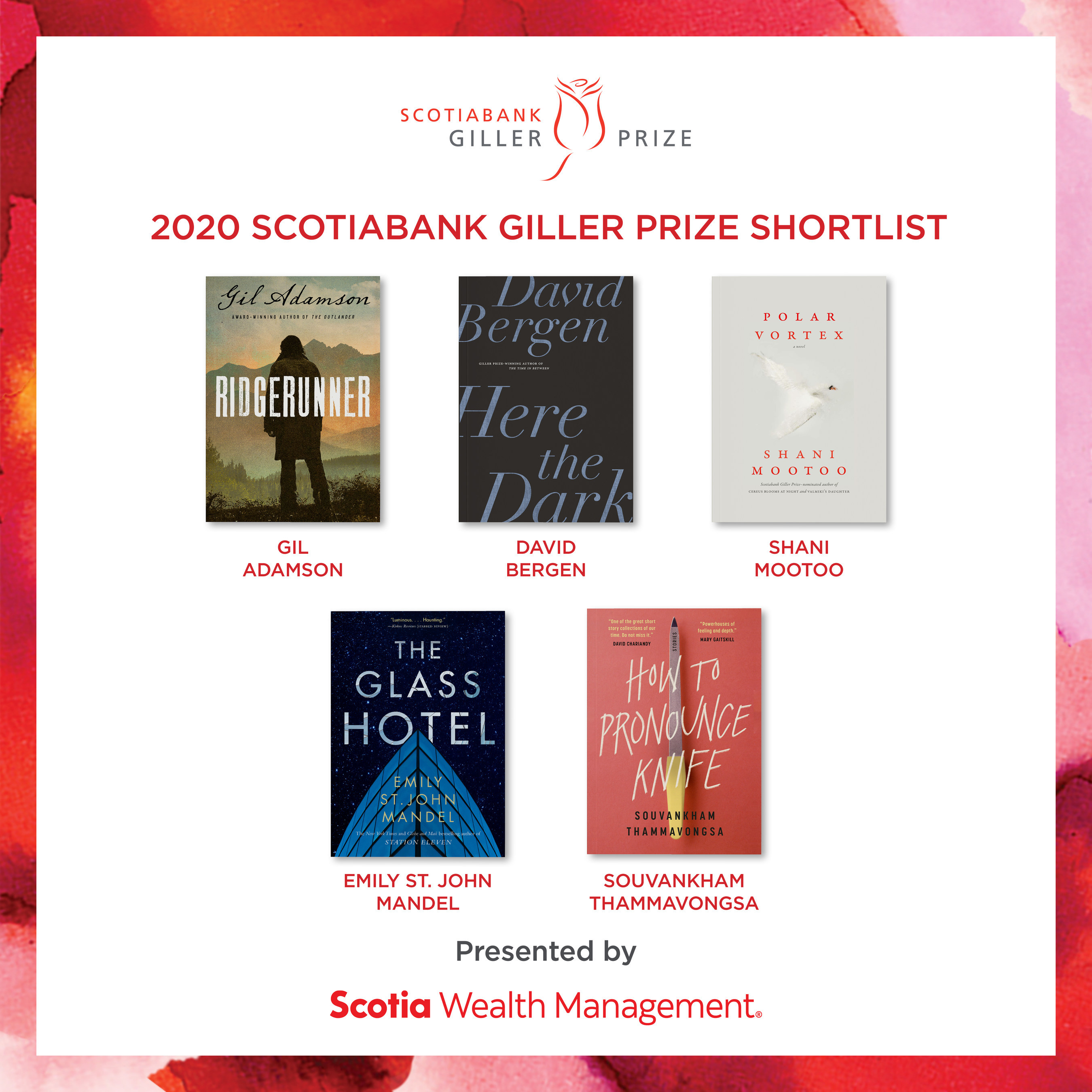 Scotiabank-Five Canadian authors named to the 2020 Scotiabank Gi