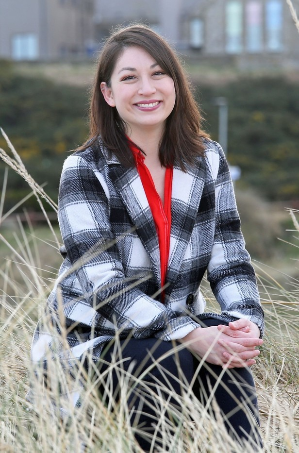 Author Akemi Dawn Bowman who now lives in Hopeman....pic Peter Jolly